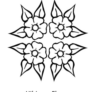 300x300 Hibiscus Flower Drawing Coloring Page Color Luna