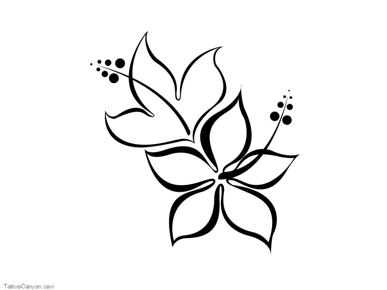 1280x960 Hawaiian Flower Sketches