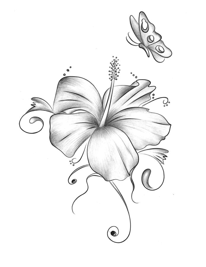 695x900 Hibiskus Tattoo By Xxmoonlight Shadowxx On Body Art