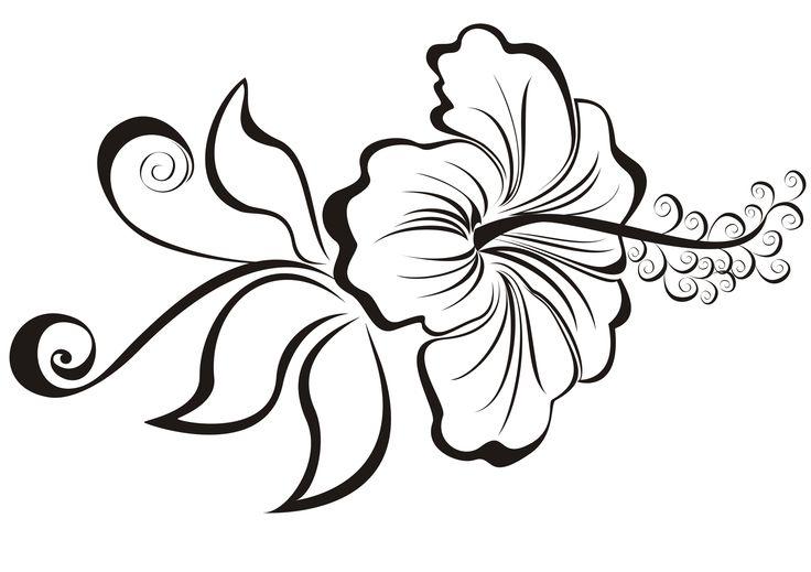 Hibiscus Tattoo Drawing: Hibiscus Tattoo Drawing At GetDrawings