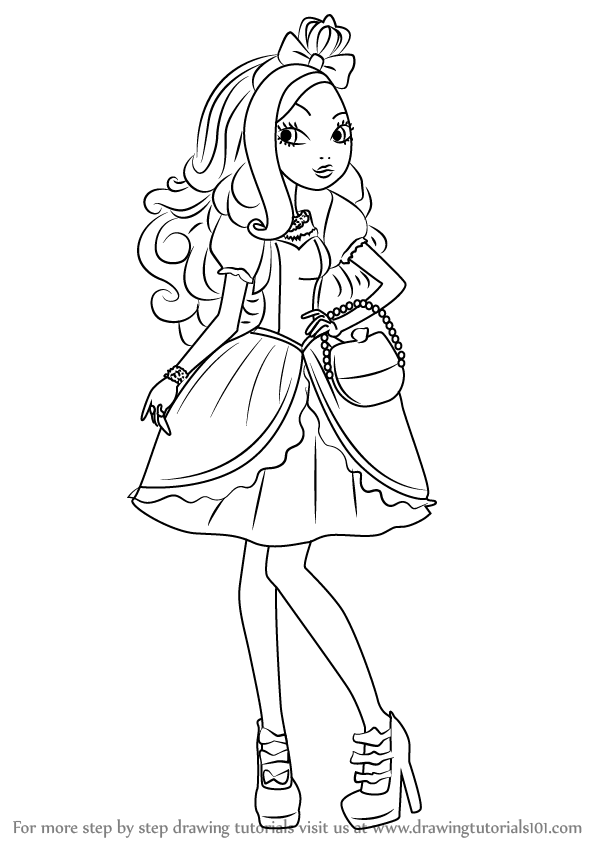 598x844 Learn How To Draw Apple White From Ever After High (Ever After