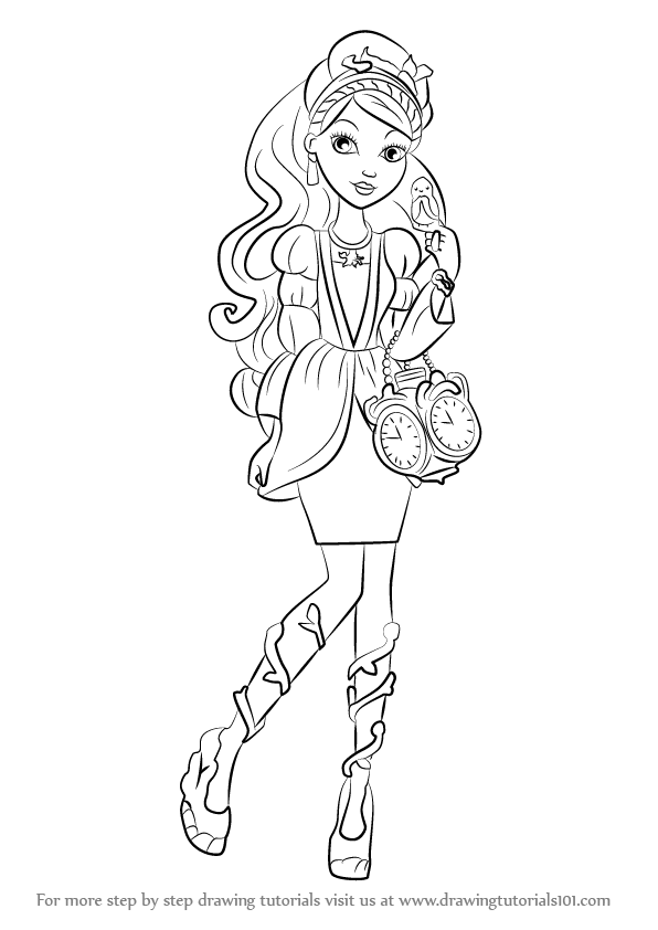 596x842 Learn How To Draw Ashlynn Ella From Ever After High (Ever After