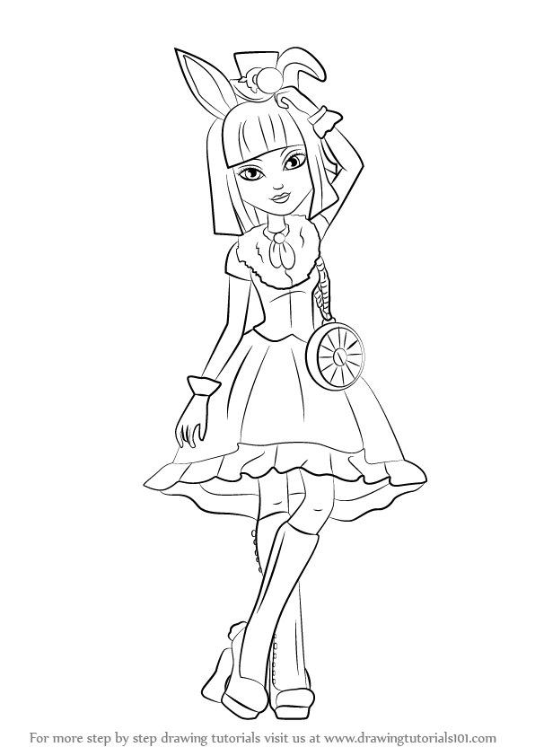 596x842 Learn How To Draw Bunny Blanc From Ever After High (Ever After
