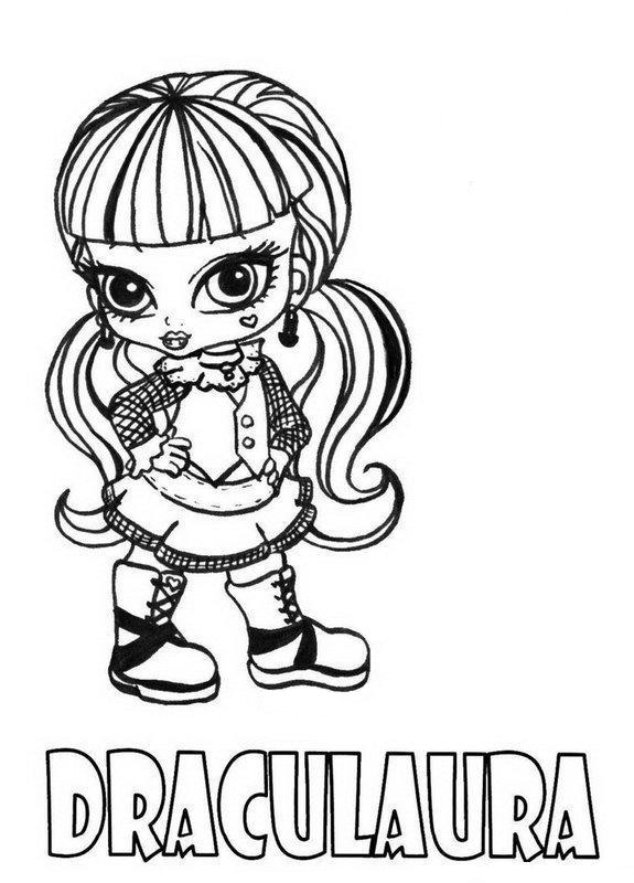 575x800 Trend Monster High Coloring Pages Draculaura 44 With Additional