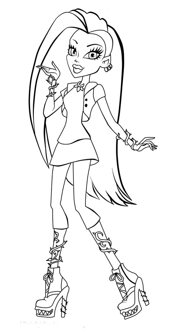 600x1070 How To Draw Monster High Character Coloring Page Color Luna