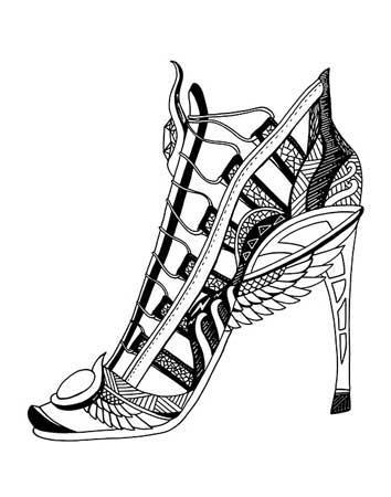 354x450 High Heel Drawing