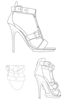 236x364 High Heel Shoe Coloring Page Coloring Pages High