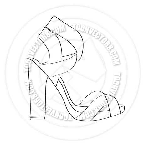 460x460 High Heel Shoe Isolated On White Background By Claudia Balasoiu