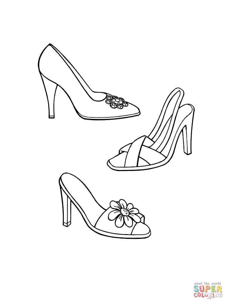 768x1024 High Heel Shoe Coloring Page Free Printable Coloring Pages