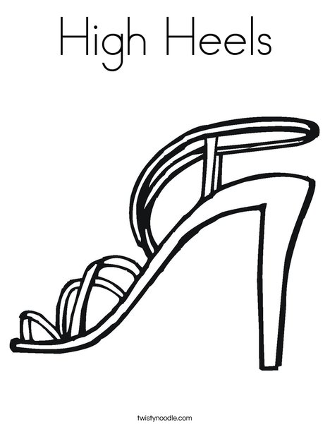 468x605 High Heels Coloring Page