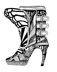 236x300 High Heels Drawings