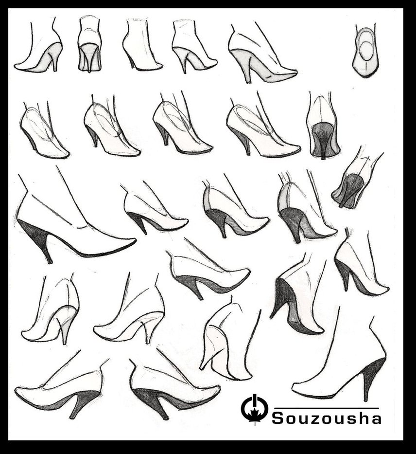 856x933 High Heels Reference Sheet By Souzousha