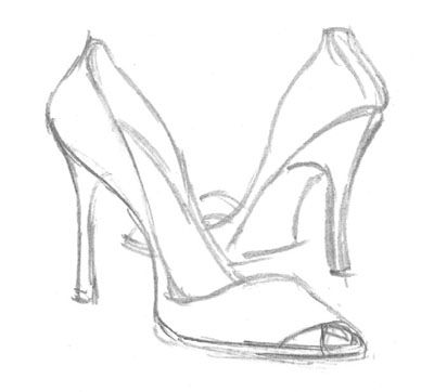 400x362 Learn How To Draw High Heels