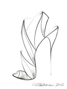 236x314 High Heel Shoe Drawings