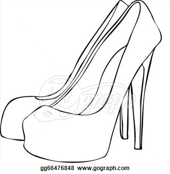 350x357 Line Drawings Of Shoes