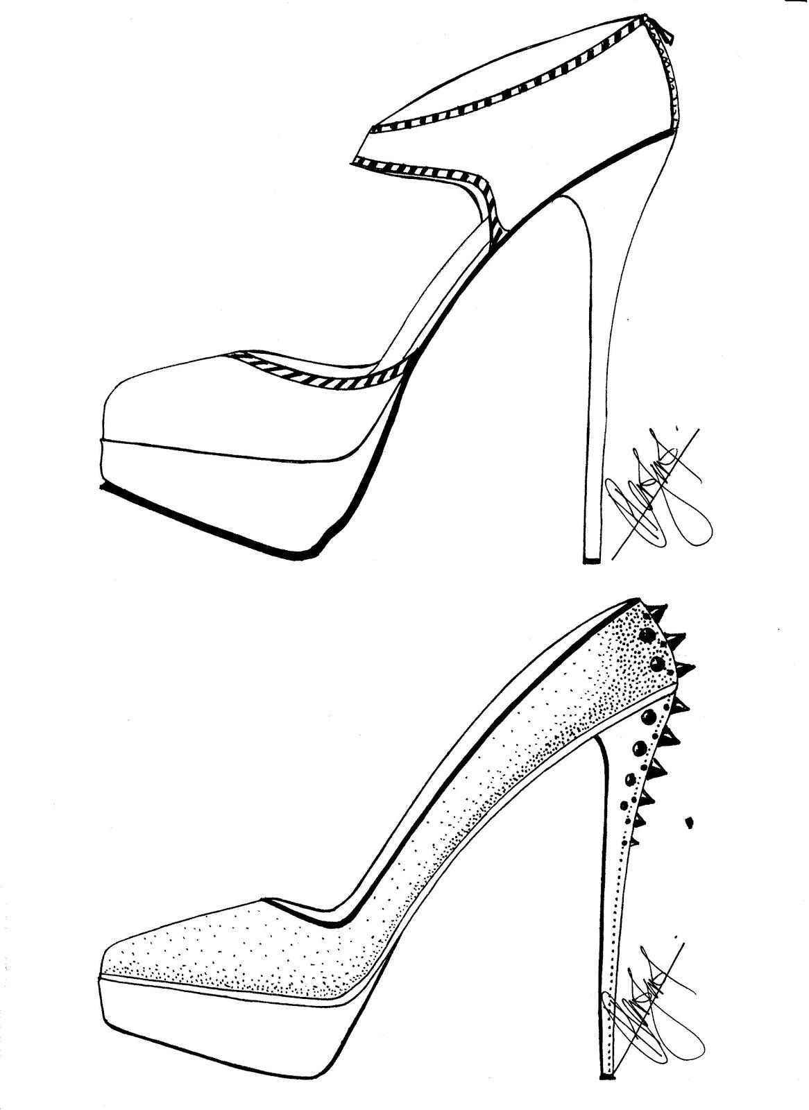 1166x1600 Hafiz's Fashion Sketching . =) High Heels Sketches