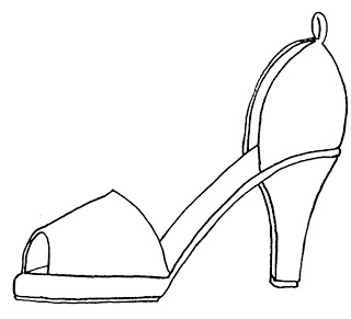 High Heel Drawing Template