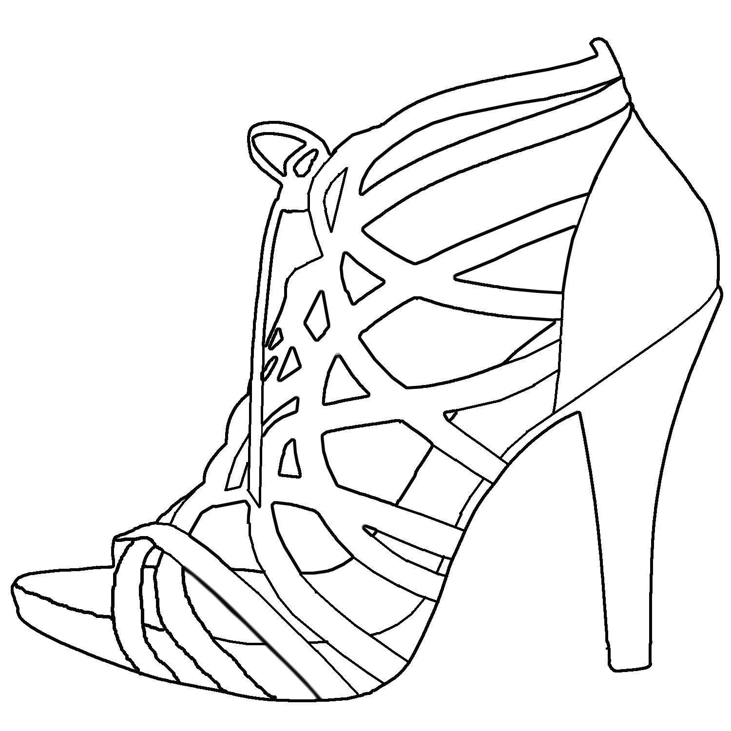 High heel drawing template at getdrawings free for personal 1500x1500 great high heel templates pictures inspiration maxwellsz