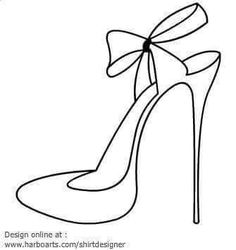 236x250 High Heel Pattern. Use The Printable Outline For Crafts, Creating
