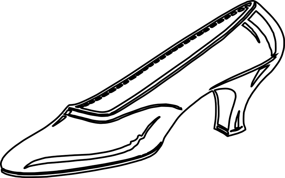 960x601 High Heel Shoe Png Black And White Transparent High Heel Shoe
