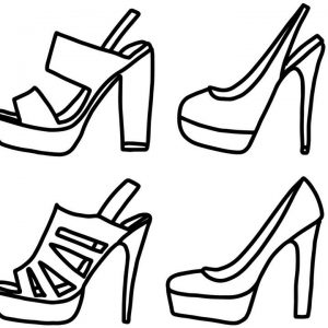 300x300 Coloring Pages High Heel Shoes Copy Coloring High Heels Coloring