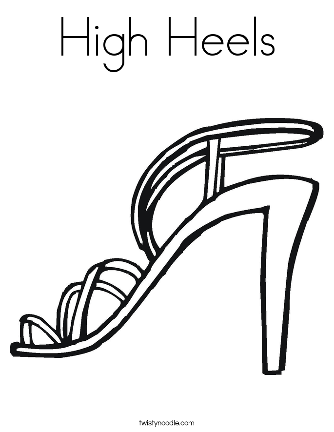 685x886 High Heels Coloring Page