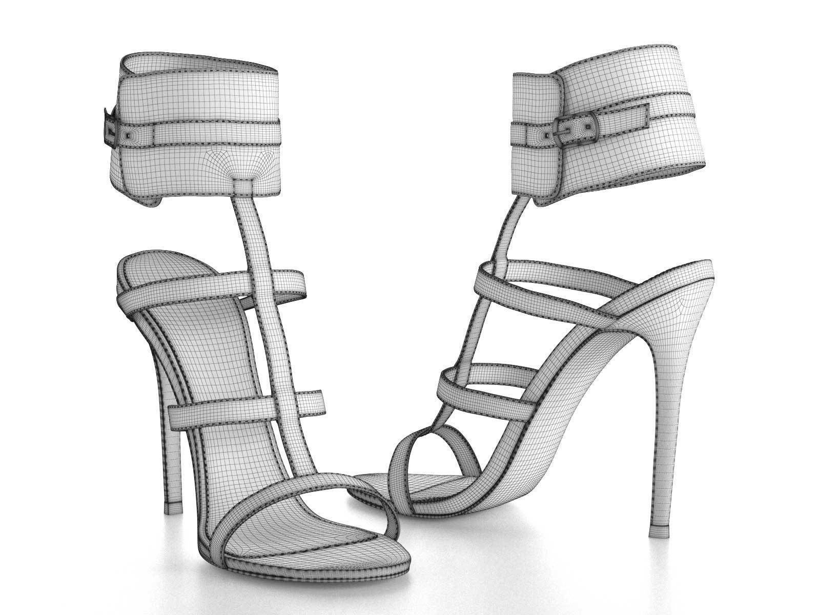 1600x1200 Nika Ankle Cuff High Heels 3d Cgtrader
