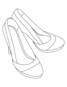 236x304 Platform High Heel Coloring Pages Tall High Heel Coloring Pages