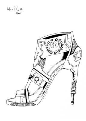 286x400 Star Wars Drawings Beautiful Star Wars Theme High Heels Star