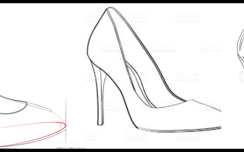 495x309 My High Heels Drawing. High Heel Illustration The Drawing Was