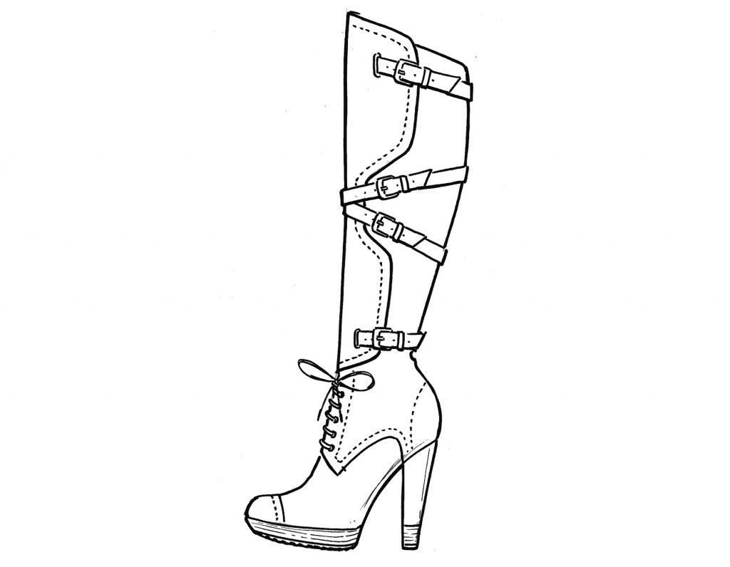 High Heel Shoes Drawing at GetDrawings | Free download