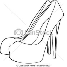 236x237 Silver High Heel Clip Art Spike Heel Clipart Vector Graphics