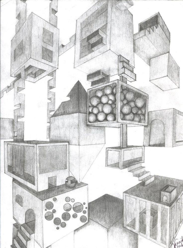High School Building Drawing