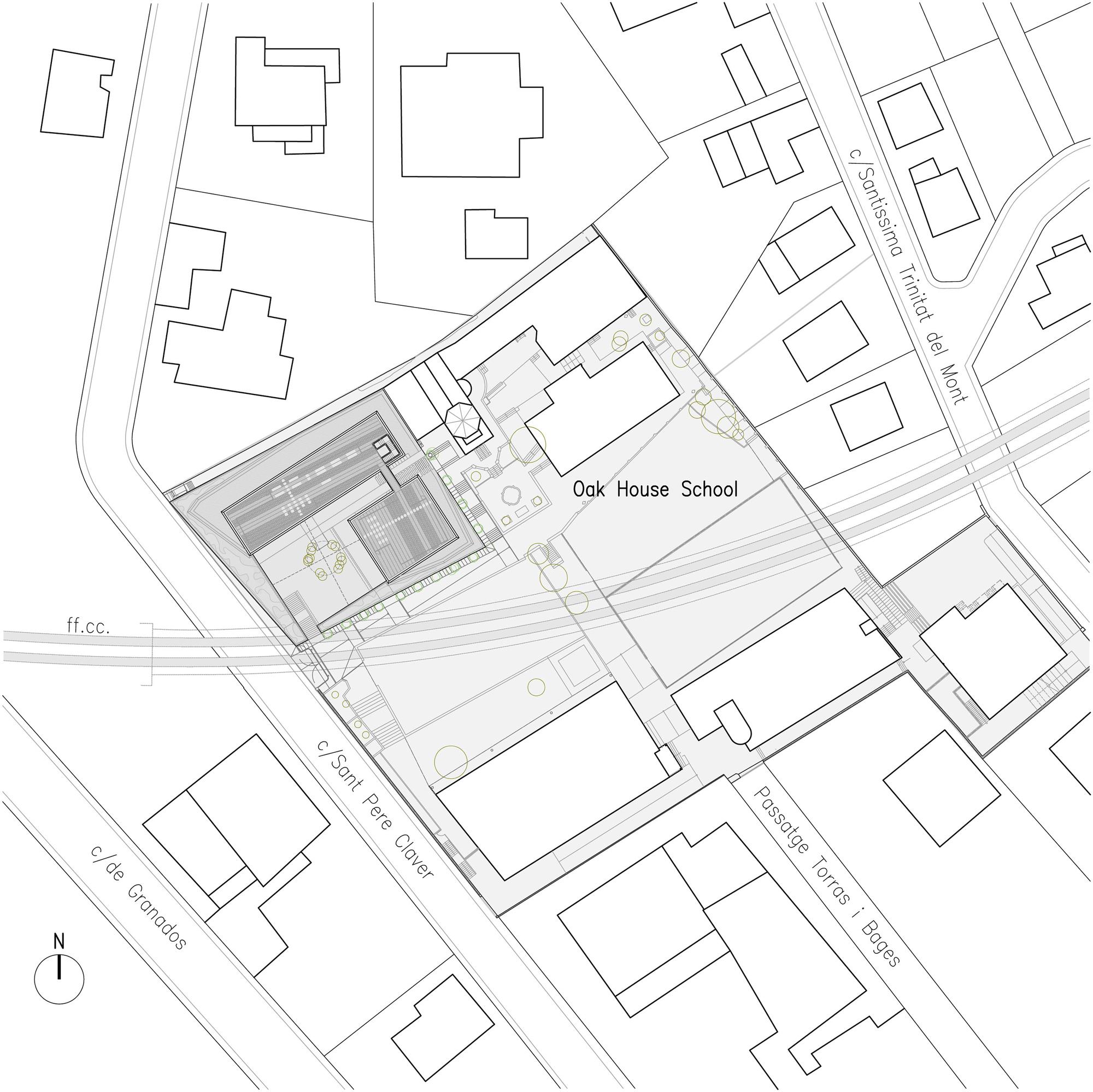 2000x1999 Gallery Of Oak House High School Building Trasbordo Arquitectura