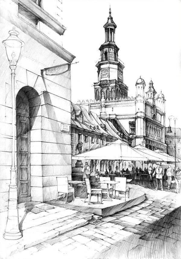 600x859 Historical Buildings Pencil Drawing Black Amp White City Sketches