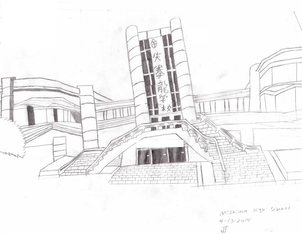 1017x786 Drawing Of Mishima High School Unfinished By Jt4910