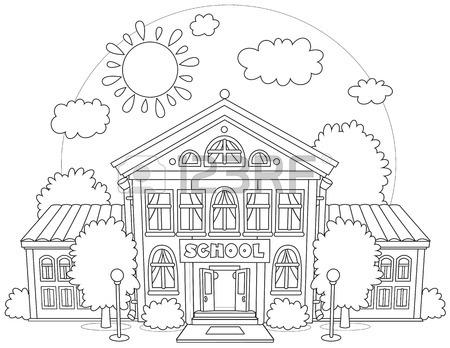 450x348 207 High School Grade School Elementary Cliparts, Stock Vector