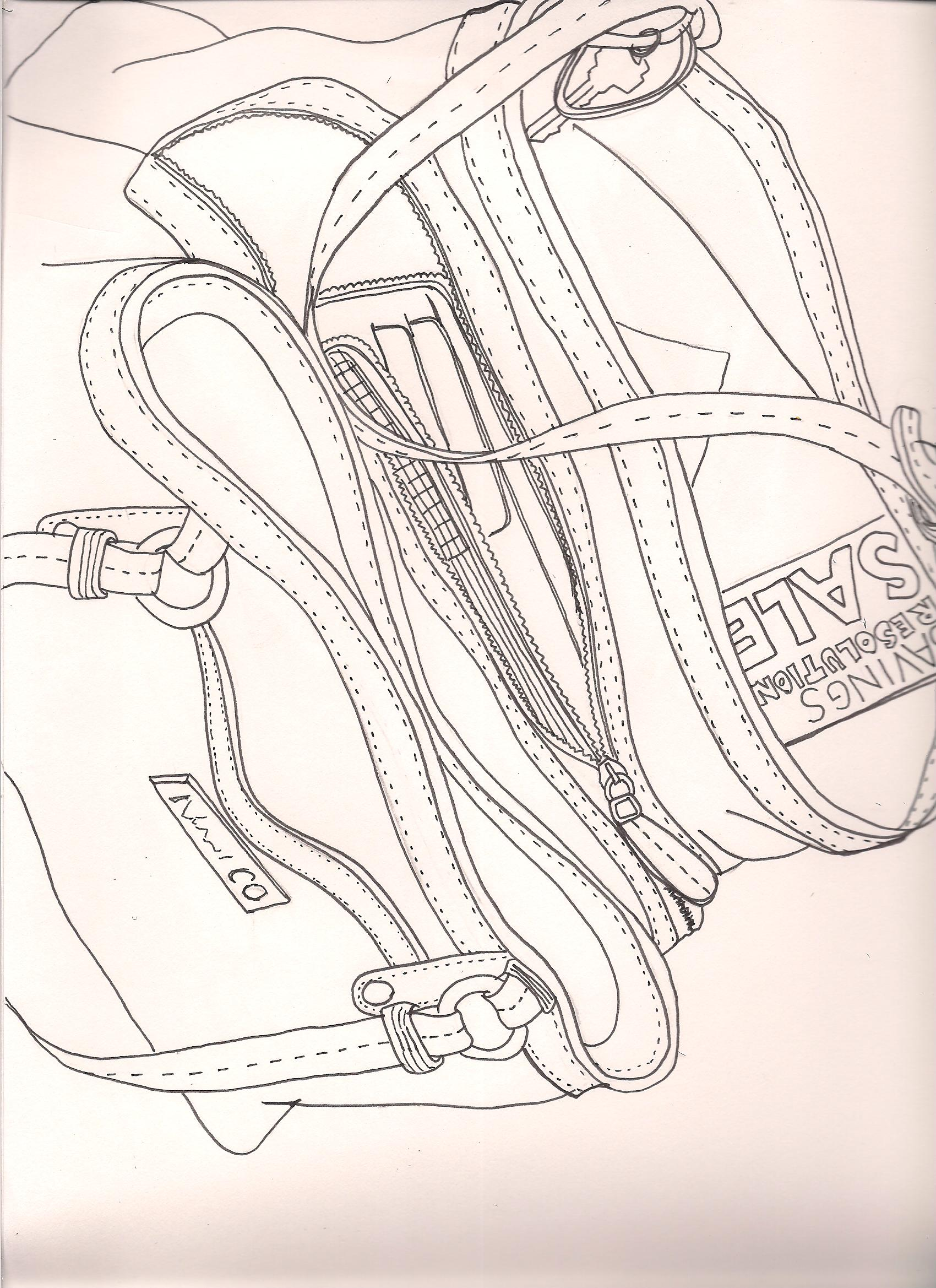 1700x2338 Contour Line Drawing