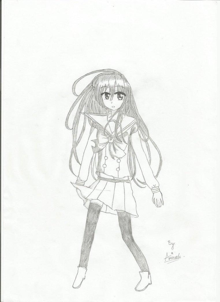 762x1048 Highschool Girl By Aminah Chan