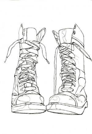 300x436 Continuous Line Drawing Jennifer Bennett Desen Boyama 13