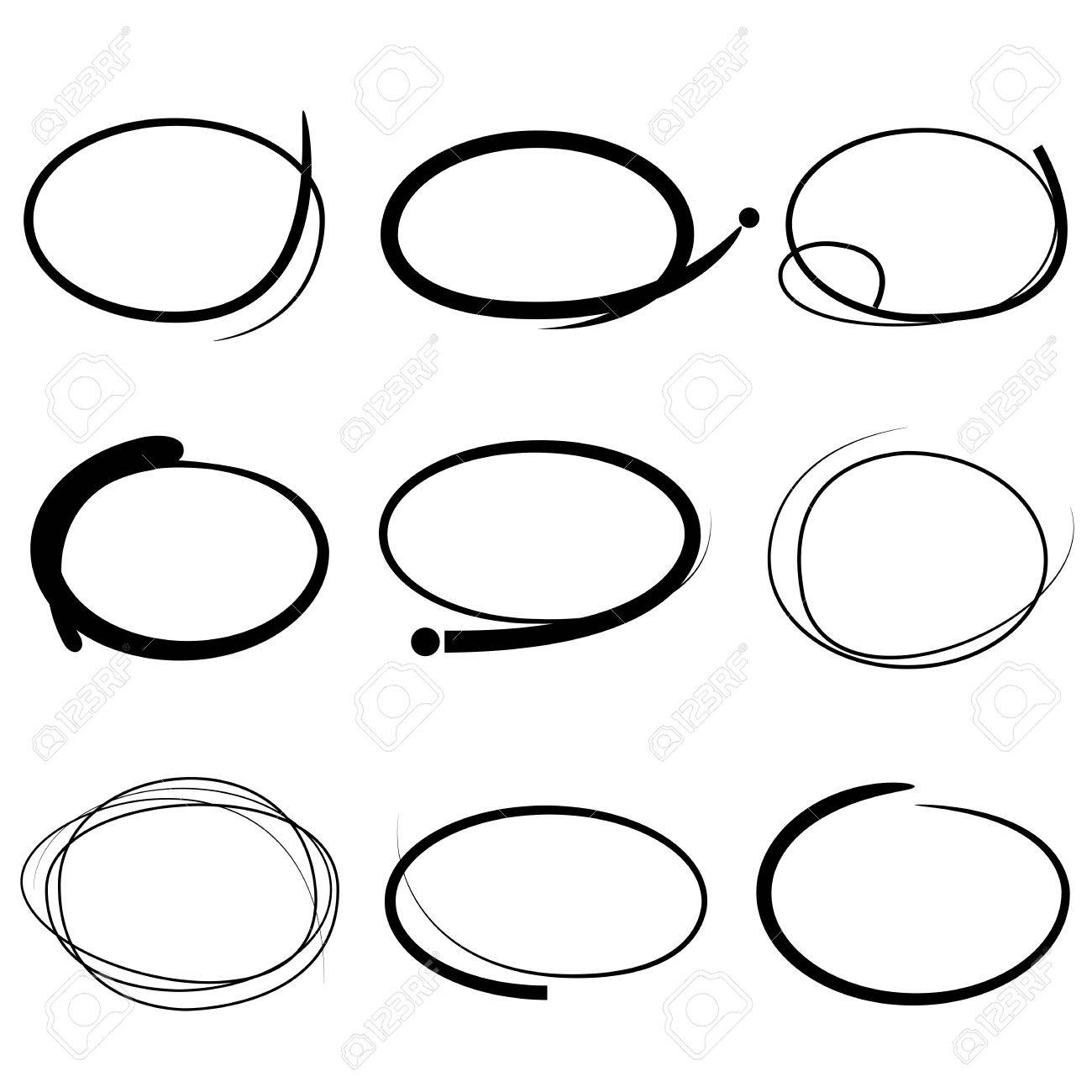 1300x1300 Highlighter Circle Set Royalty Free Cliparts, Vectors, And Stock