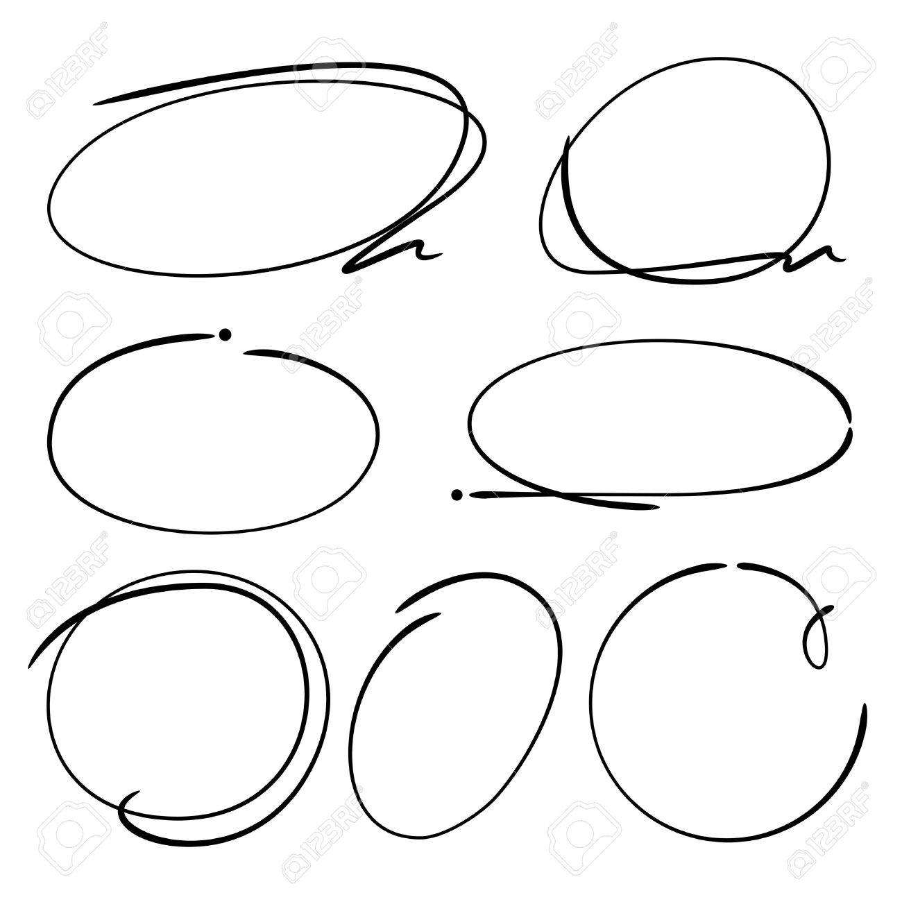 1300x1300 Circle Highlighter Elements Royalty Free Cliparts, Vectors,