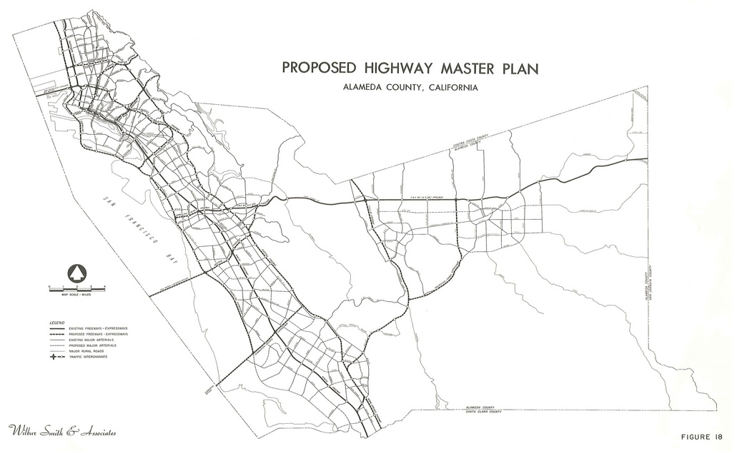 1024x632 Proposed Highway Master Plan, Alameda County, California