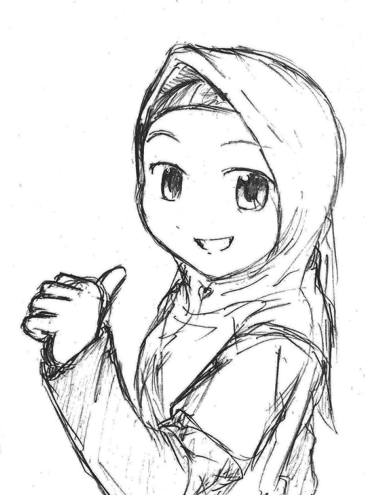 1180x1600 Girl Wearing Hijab Drawing Blackheart's Sketchbook My Sketches