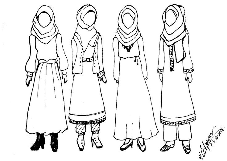 736x524 9 Best Sketsa Fashion Hijab Images On Fashion