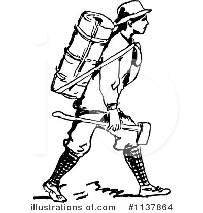 400x420 Hiking Clipart