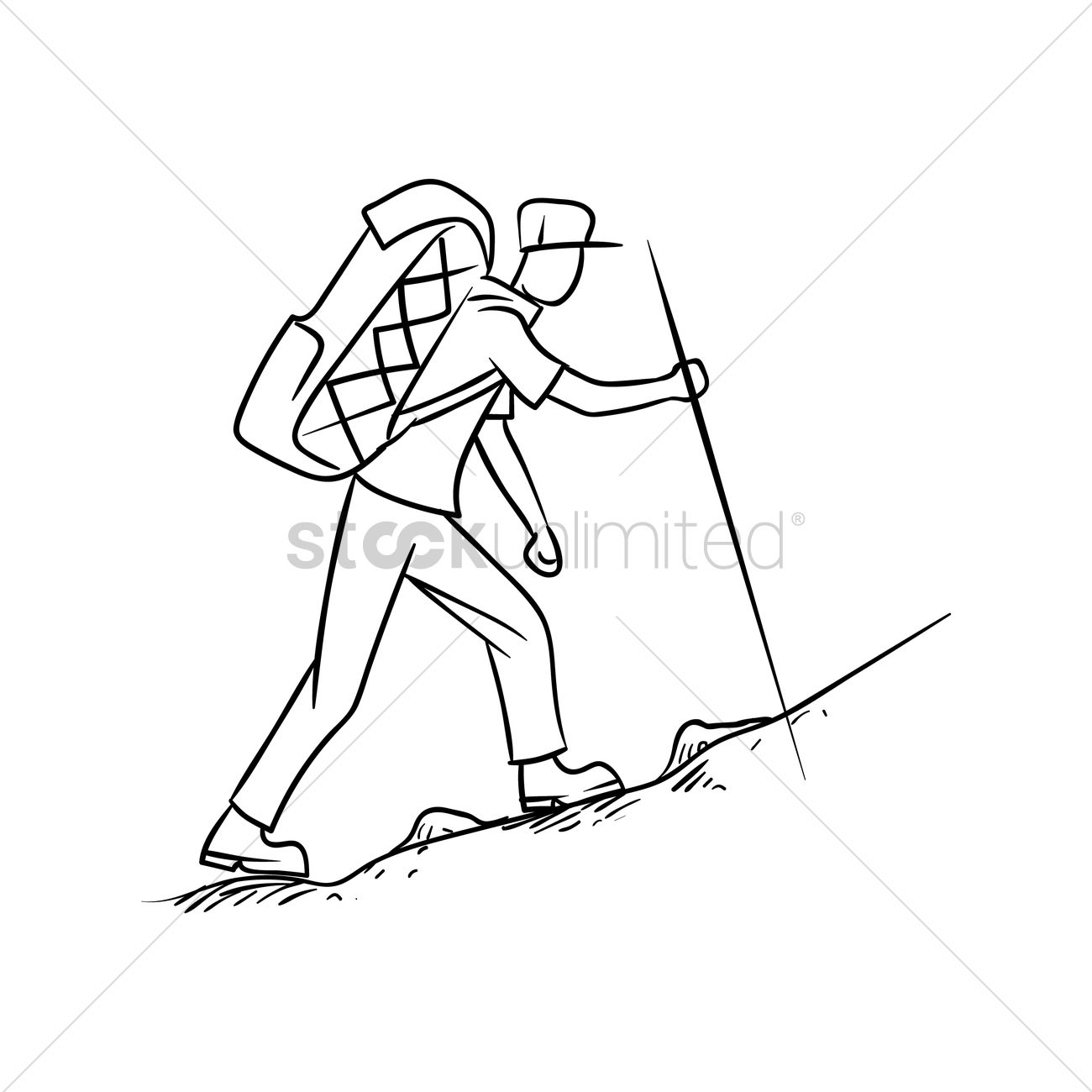 1300x1300 Free Hiker Vector Image