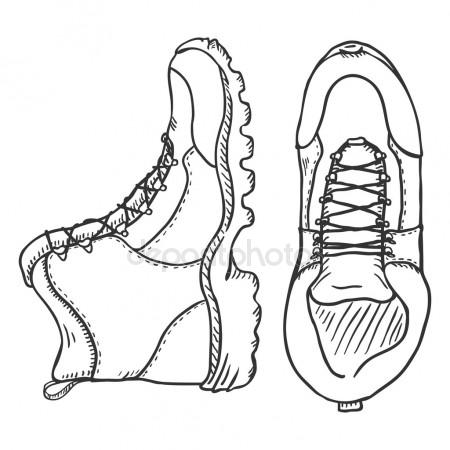 450x450 Hiking Boots Stock Vectors, Royalty Free Hiking Boots