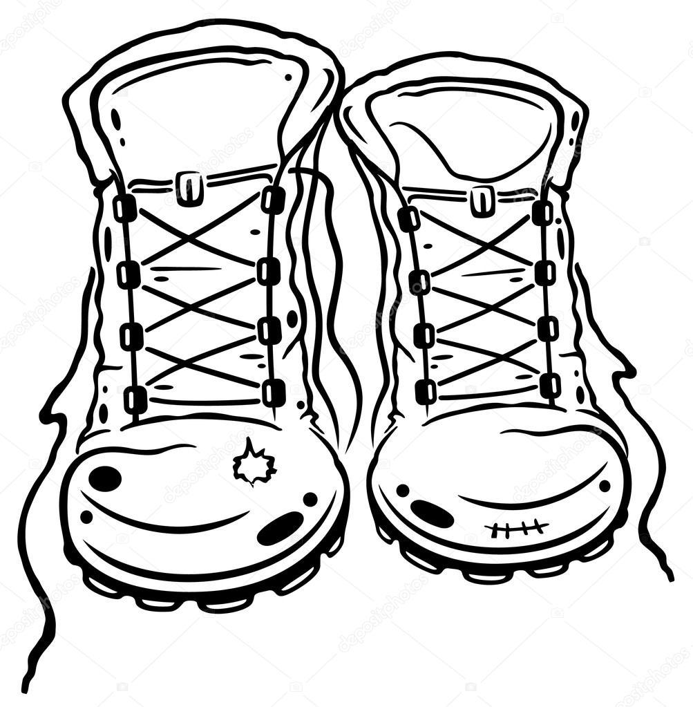 1003x1023 Hiking Boots Stock Vector Christine Krahl