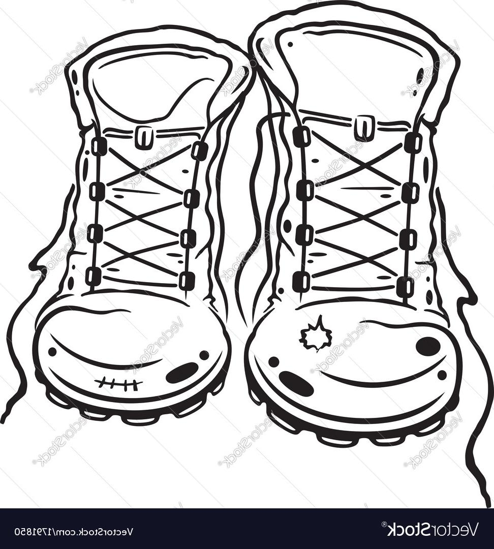972x1080 Top 10 Hiking Boots Vector Drawing